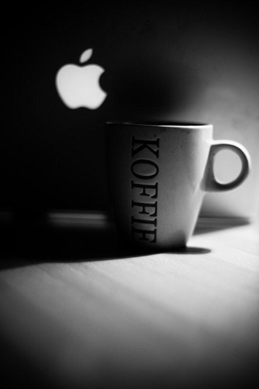 koffie en een appel