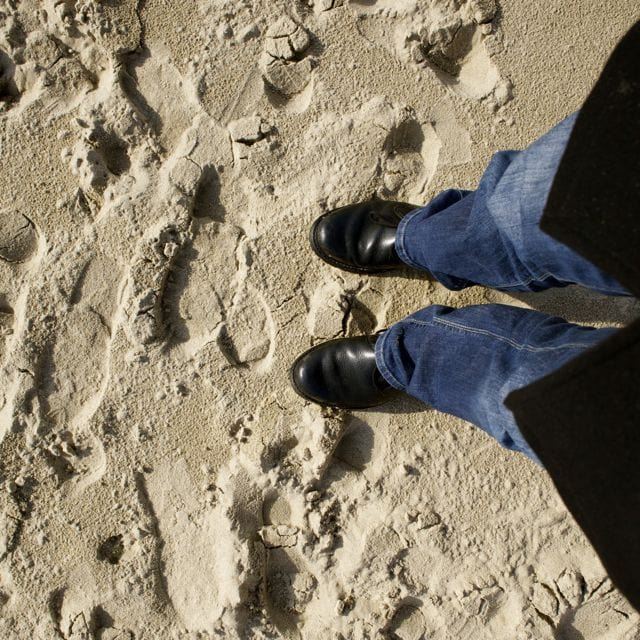 M'n voeten in het zand