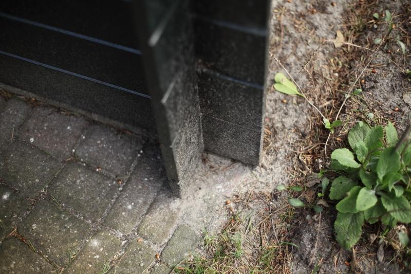 Hoek van het tuinhuisje
