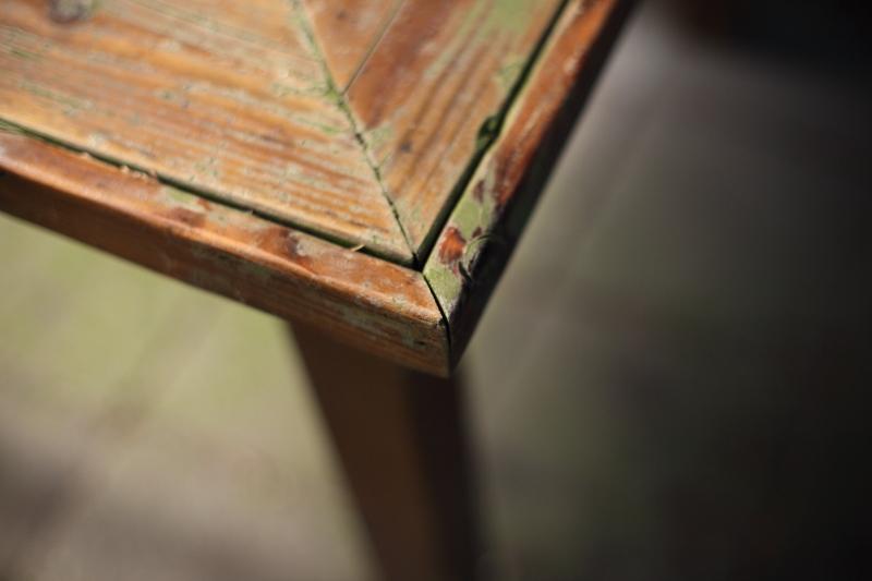 Hoek van een tafel