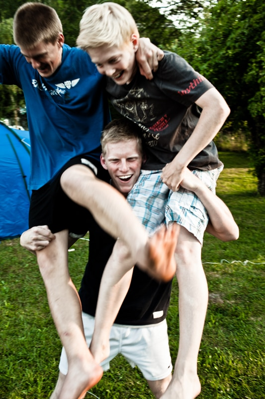 Vakantie is gek doen met je broertjes.